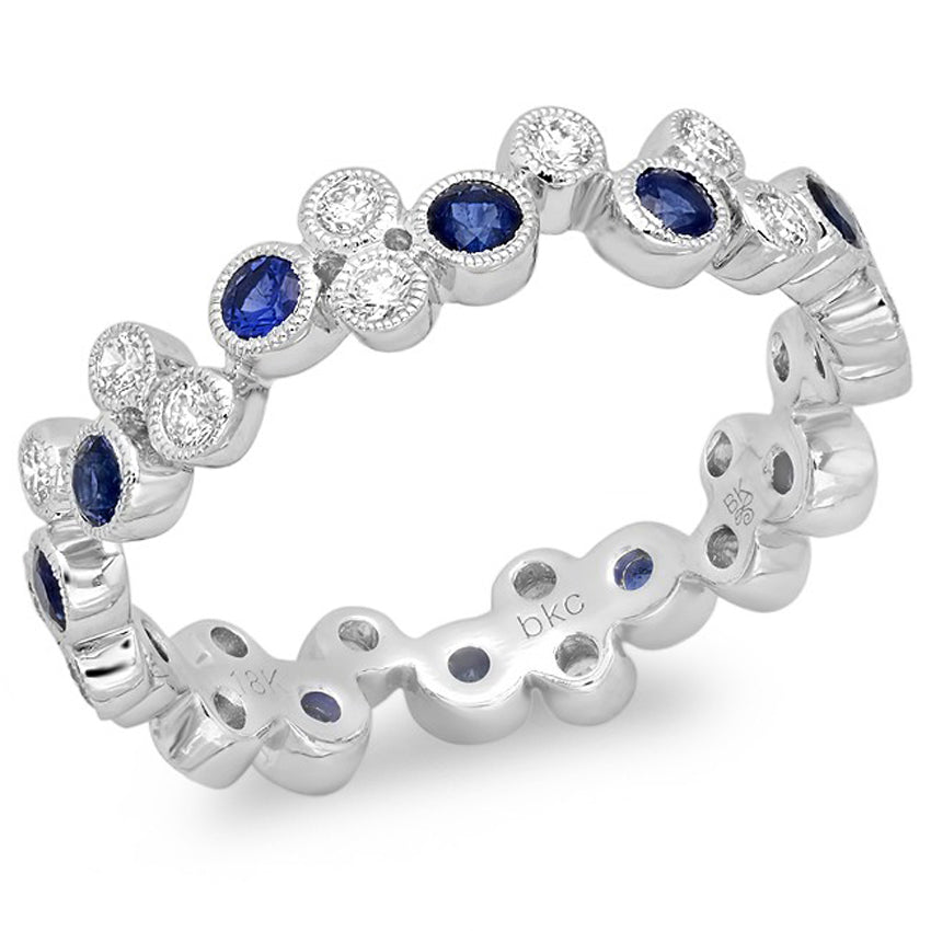 Bubble Sapphire and Diamond Band