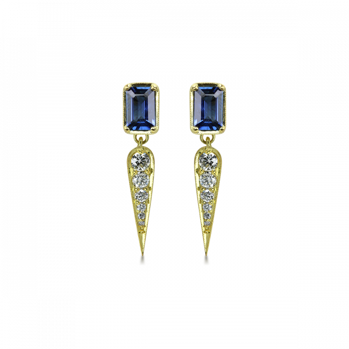 Claude Blue Sapphire Earrings