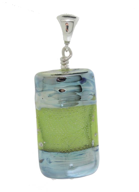 Lime Cosmic Rectangle Pendant
