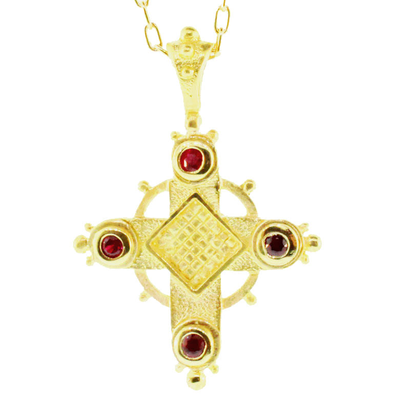 Byzantine Ruby Cross