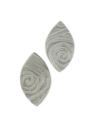 Swirled Navette Earrings
