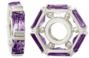 W-6 White Gold Baguette Amethyst Wheel