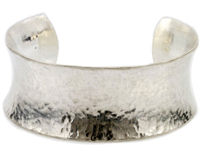 Thick Silver Hourglass Cuff