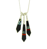Three Arrow Multi Stone Necklace