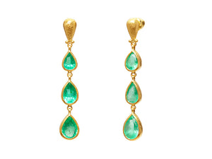 EMERALD DROP EARRINGS
