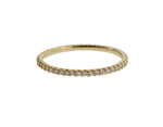 PETITE YELLOW GOLD AND DIAMOND ETERNITY BAND