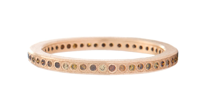 Brilliant Cut Autumn Diamond Rose Gold Band