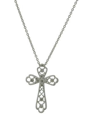 Filigree Diamond Cross Pendant