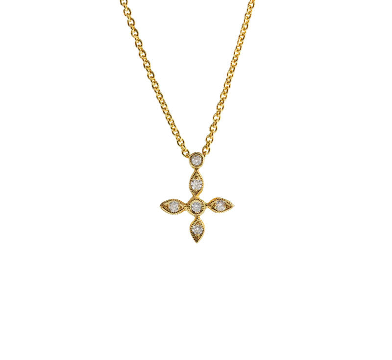 Yellow Gold Mini Cross