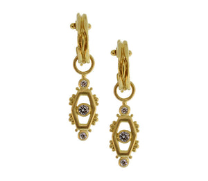 Gold And Diamond Ojo Earrings