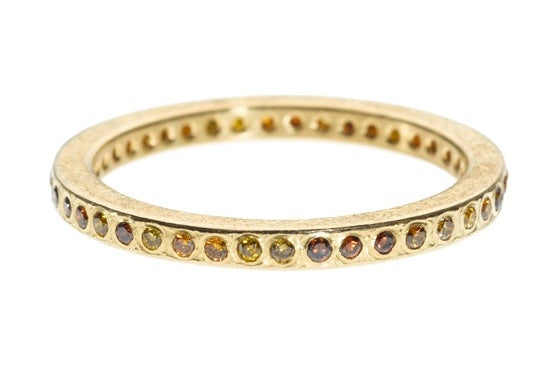 Brilliant Cut Autumn Diamond Gold Band