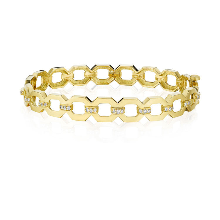Gold Link Diamond Bracelet
