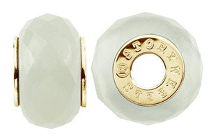 W-434B Faceted White Jade Wheel