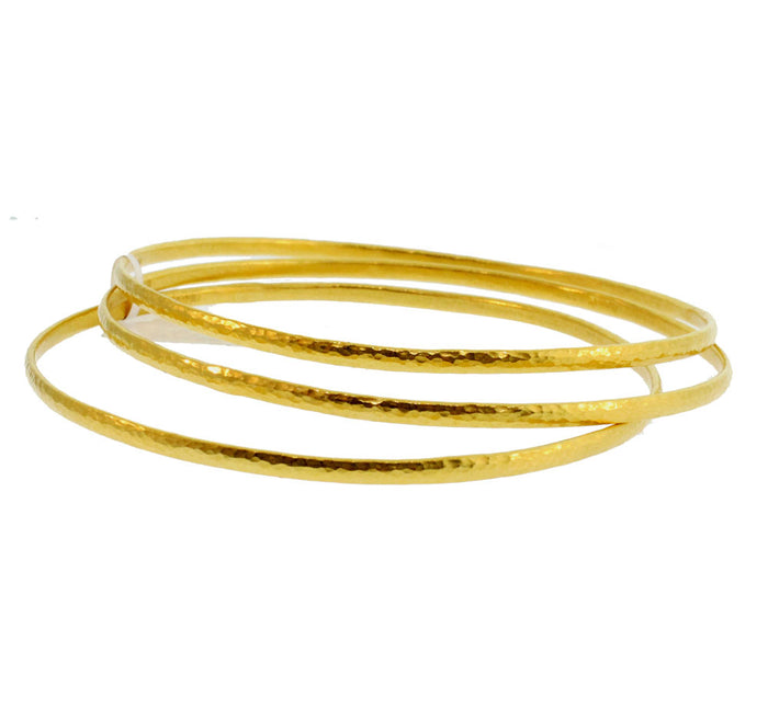 Three Set Gold Bangles