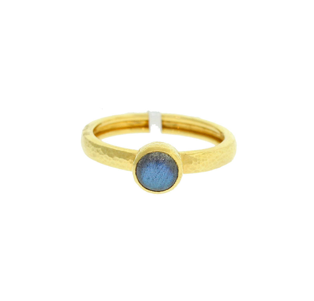 Gold And Labradorite Ring