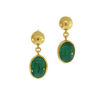 Cabochon Emerald Earrings