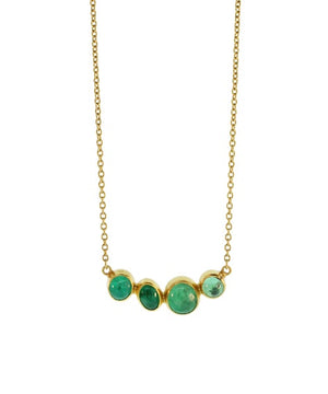 Multi Stone Emerald Necklace