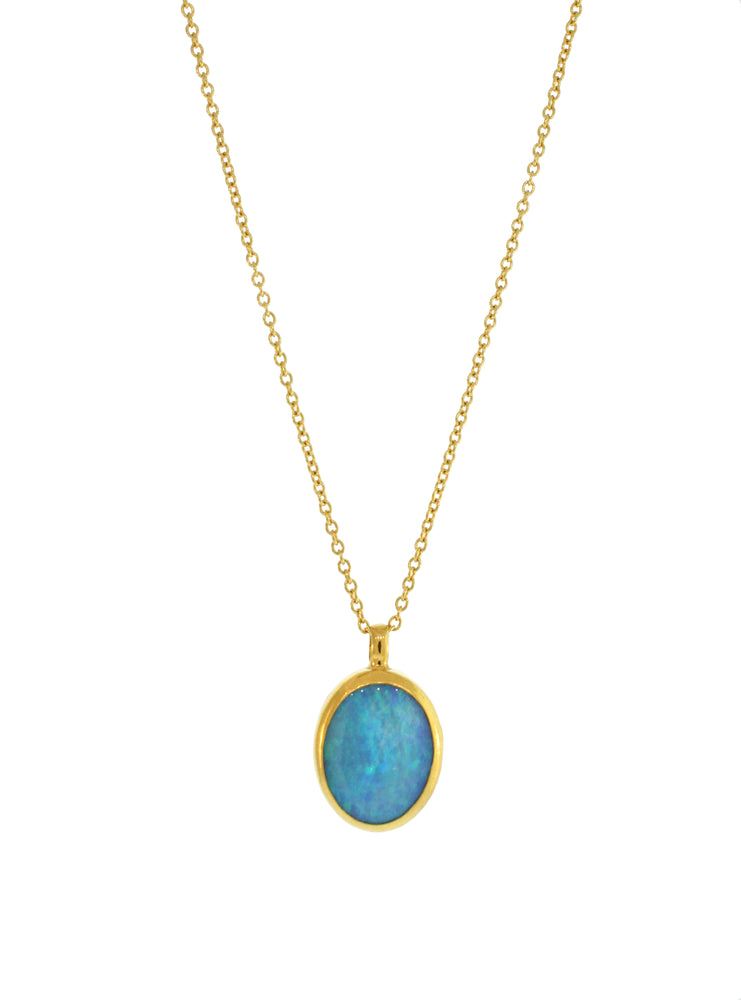 Oval Opal Necklace