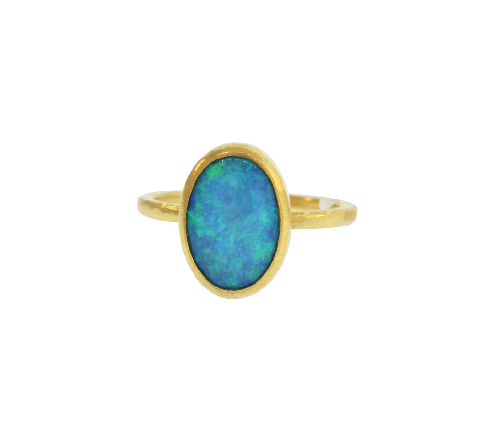 Oval Shape Opal Ring