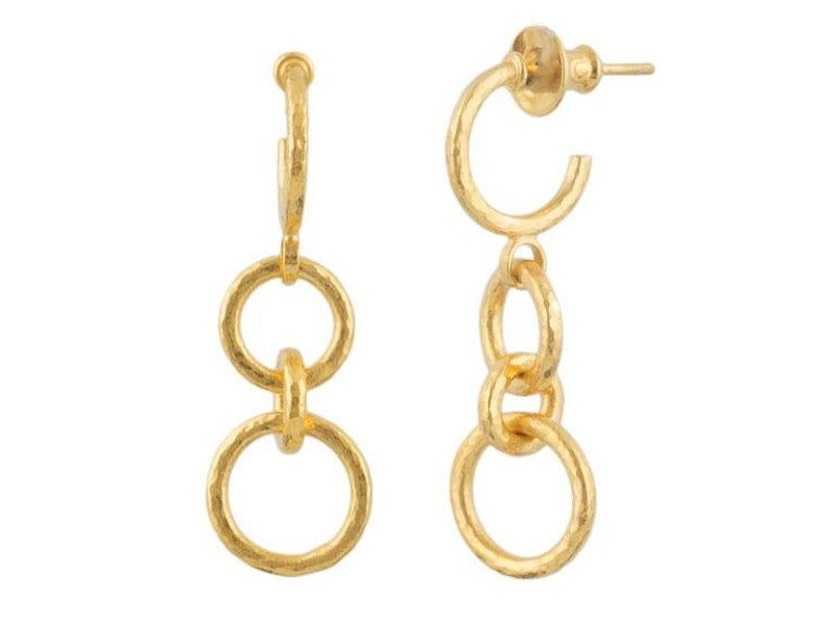 Double Hoopla Gold Earrings