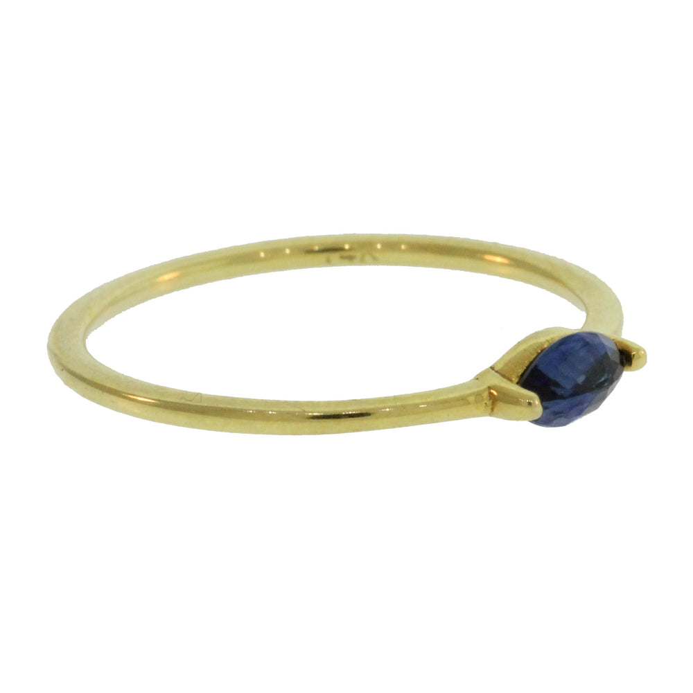 Brama Gold Ring with Sapphires
