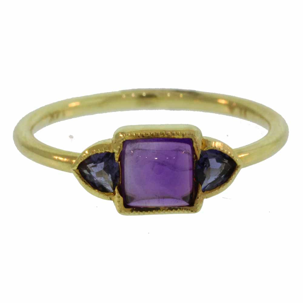 Lacey Amethyst Gold Ring