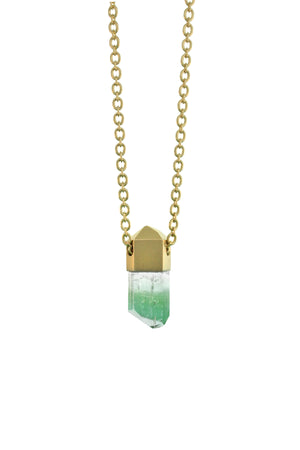 Green Tourmaline Crystal Necklace