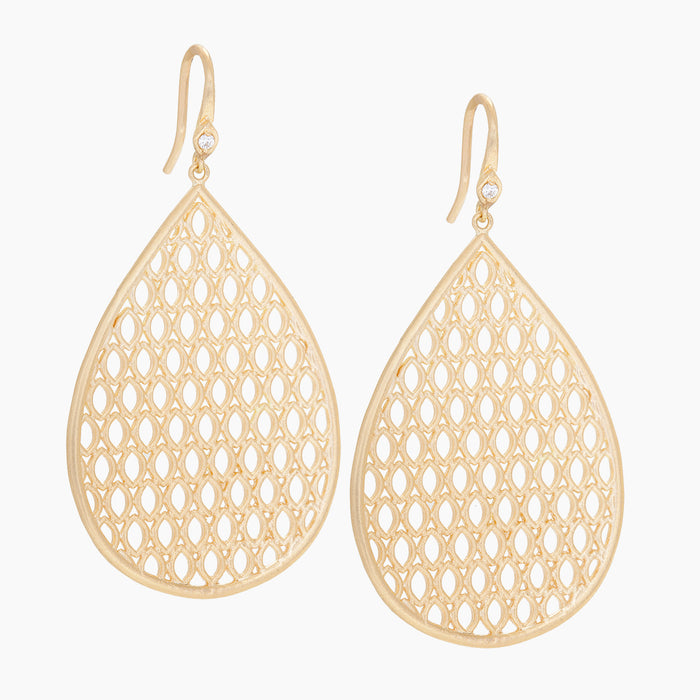 Basket Weave Aladdin Earrings