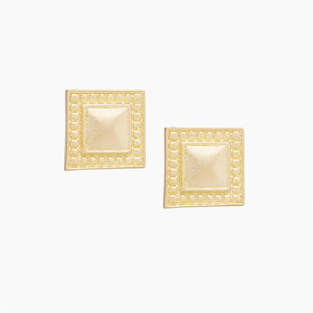 Petite Square Stud Earrings