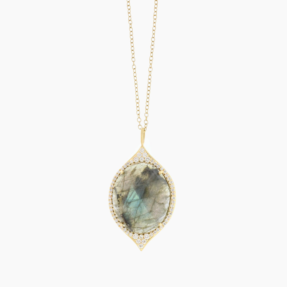 Gold and Labradorite Necklace