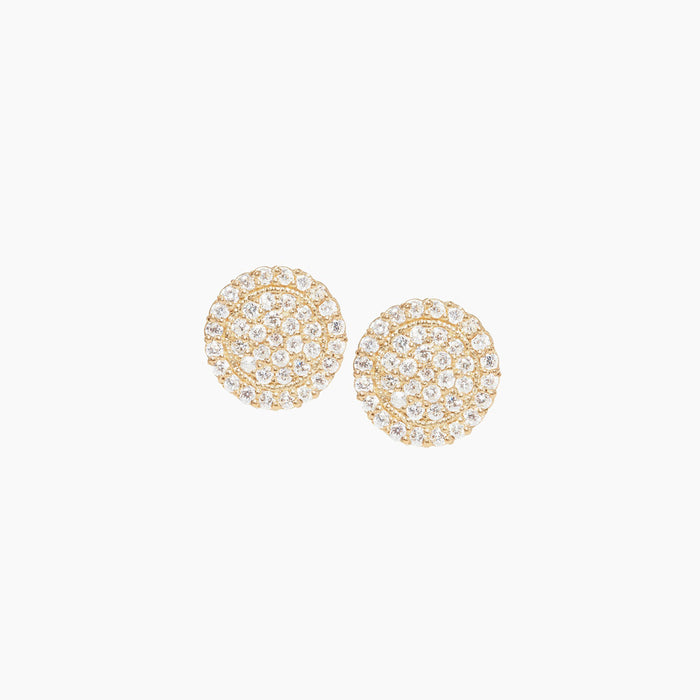 Scallop Diamond Stud Earrings