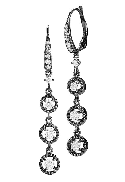 TRIPLE ROUND DIAMOND EARRINGS