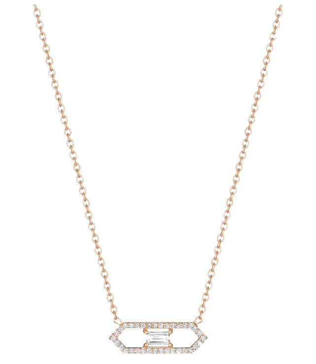 ROSE GOLD DECO DIAMOND NECKLACE