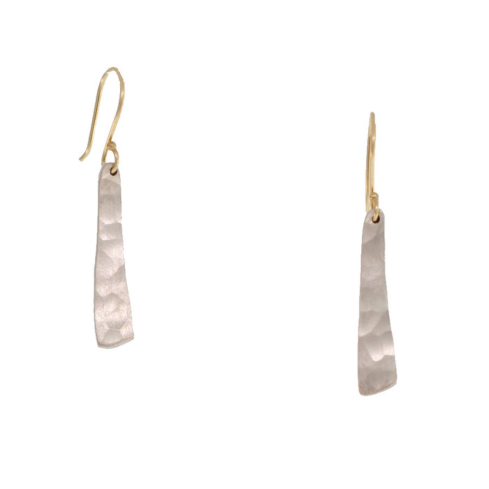 ELONGATED TRIANGLE HAMMERED EARRINGS