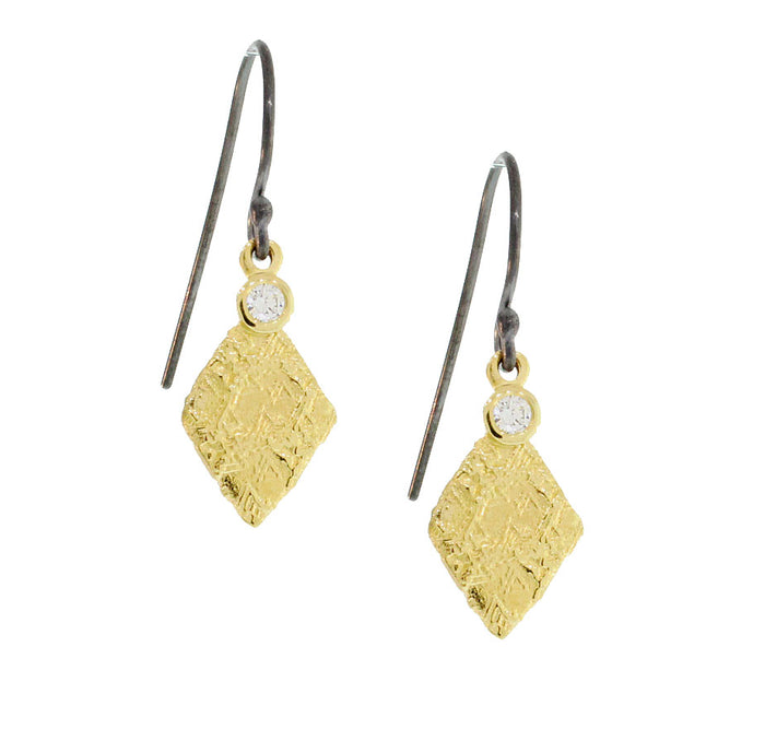 Trigon Diamond Earrings