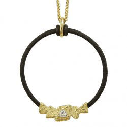 Gold And Diamond Trigon Necklace