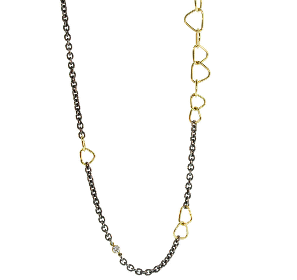 Long Gold And Silver Trigon Chain