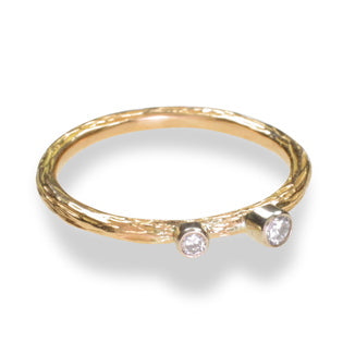 Gold And Diamond Pebble Ring