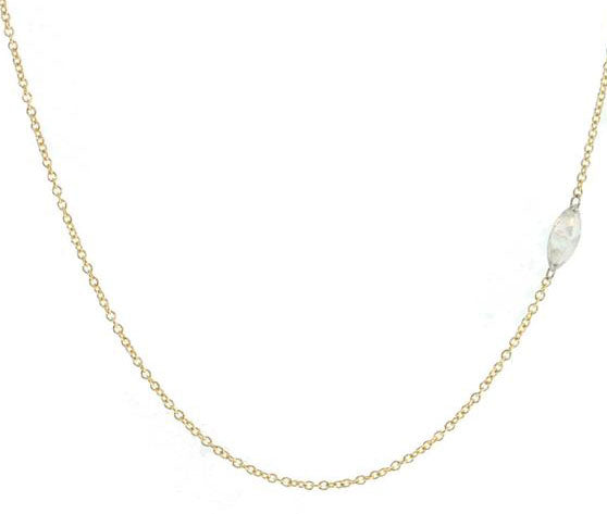 Oval Cut Diamond Necklace