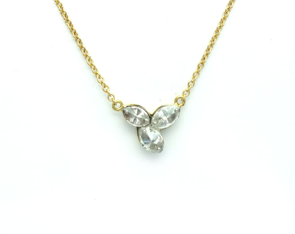Inverted Diamond Necklace
