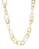 GOLD PLATED FLAT OVAL LINK NECKLACE
