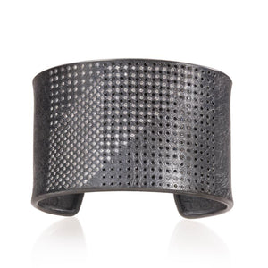 Black And White Diamond Cuff
