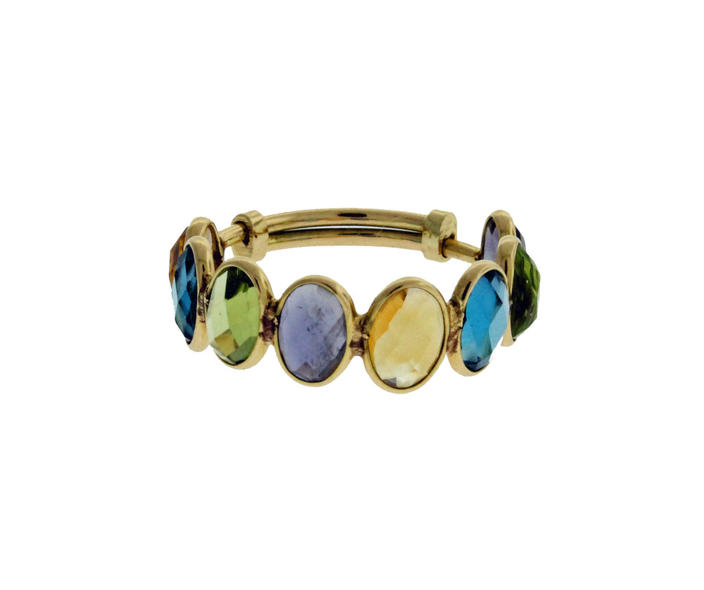 18k Multicolor Adjustable Ring