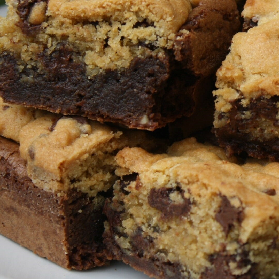 Brownies con galleta de chispas de chocolate