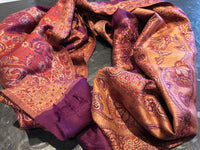 Purple scarf - cotton - MASO shop