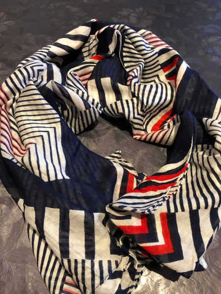Blue-white-red scarf - MASO shop