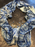Blue-yellow scarf - MASO shop