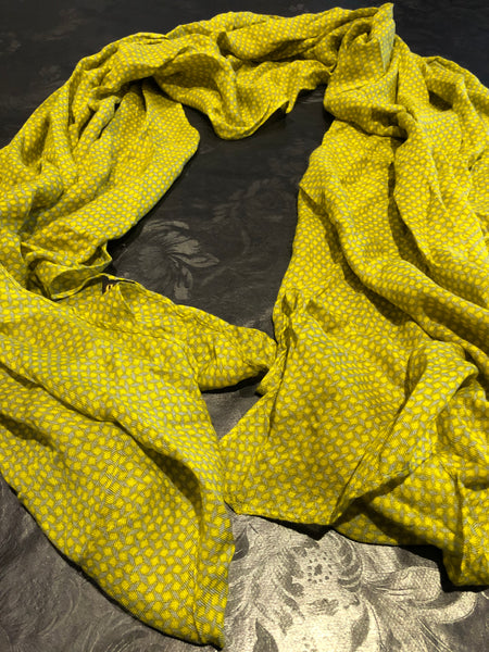 Yellow-Dots scarf - MASO shop