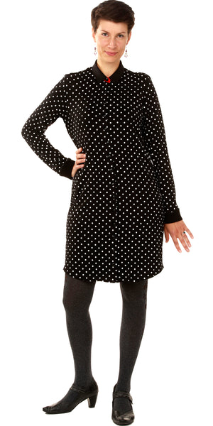 Beautiful feminine dotted shirt dress