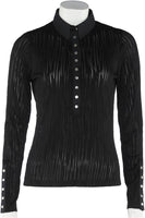 Beautiful feminine formfitted black shirt - MASO shop